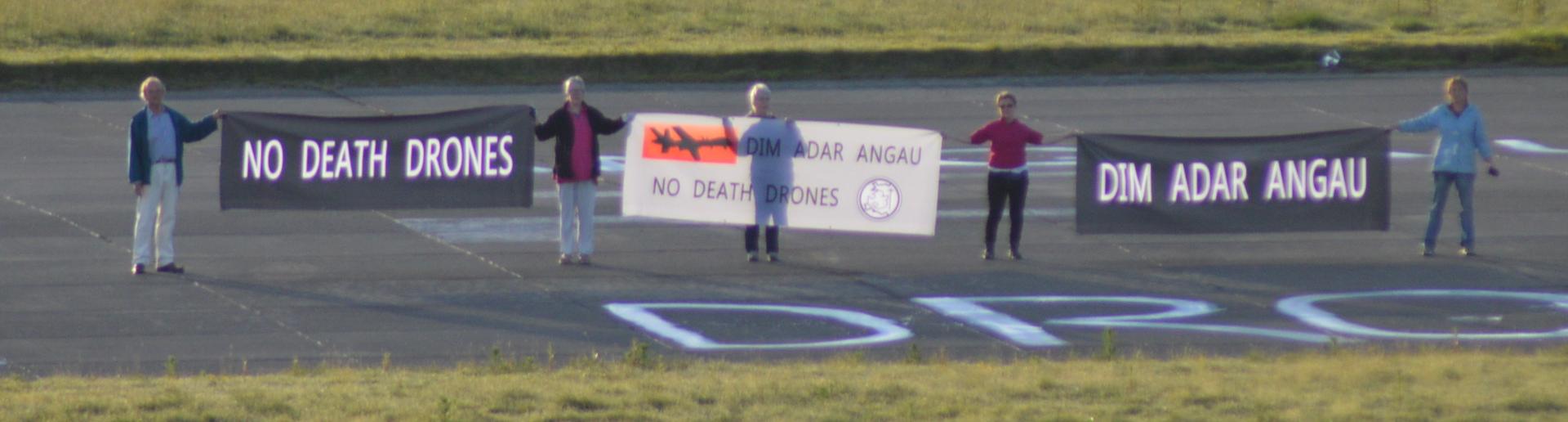 Protest Adar Angau Llanbedr 2014